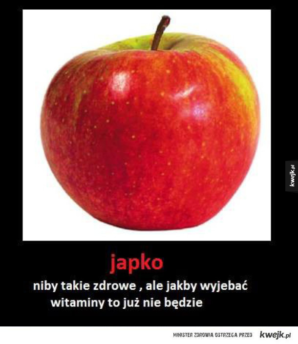 Jabłko bez witamin