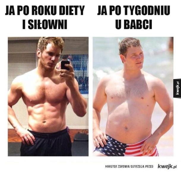 Rok diety i siłowni efekt