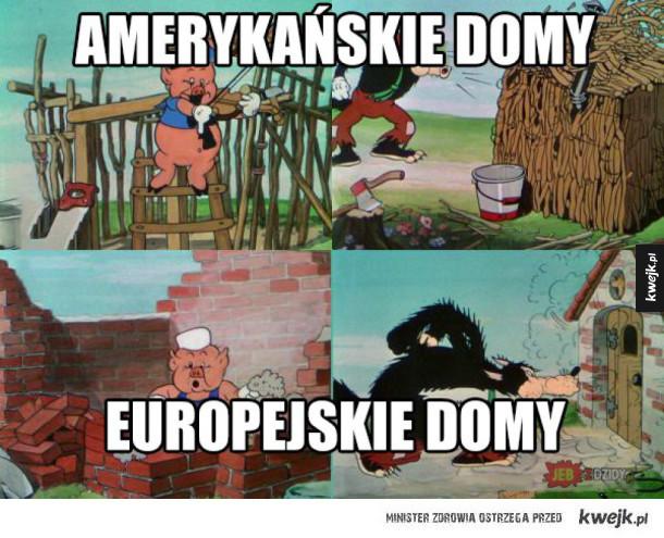 amerykańskie vs europejskie