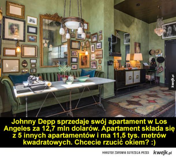 Tak wygląda mieszkanie Johnny'ego Deppa
