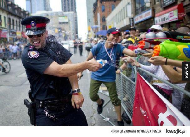 Czasem policjanci to spoko ziomki