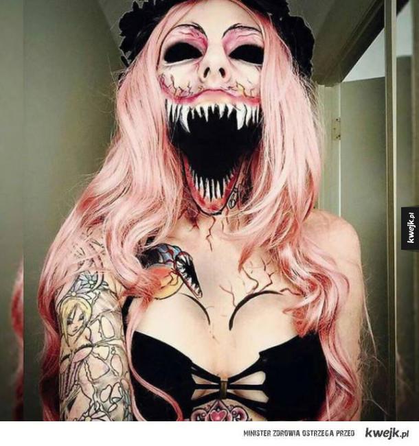 Genialne makijaże halloweenowe
