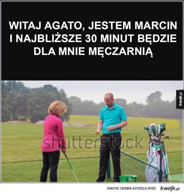 Trener golfa dla kobiet