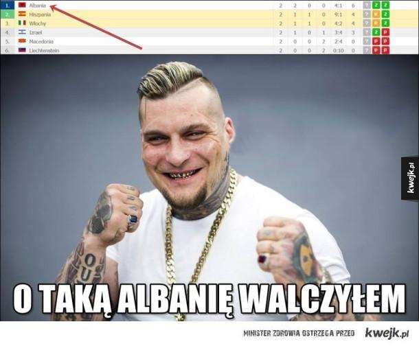 Albania pierwsza