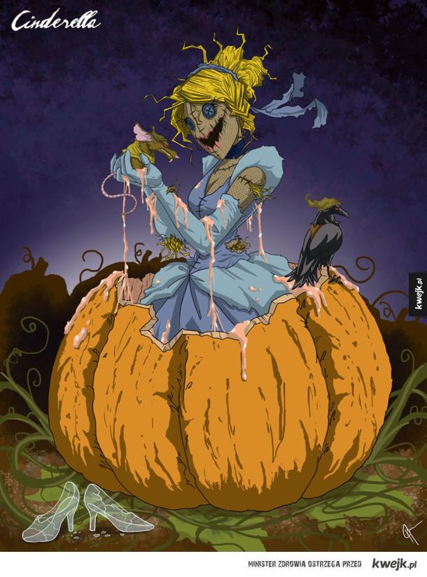 Księżniczki Disneya na halloween