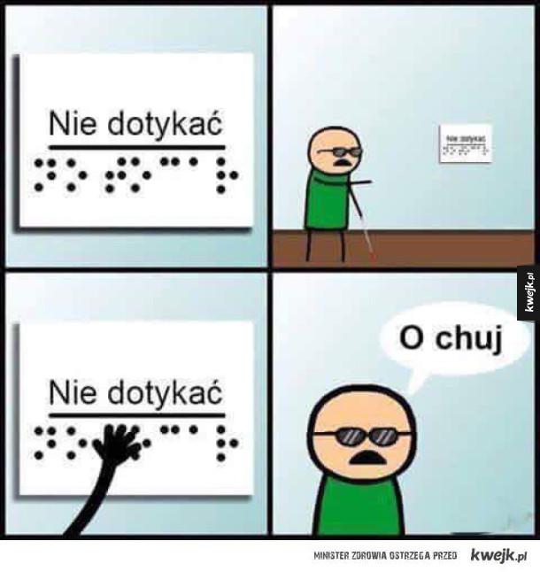 Problemy niewidomych