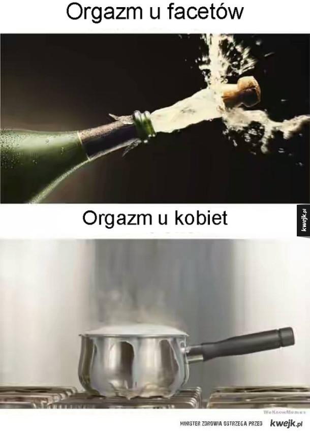 Męski a kobiecy orgazm
