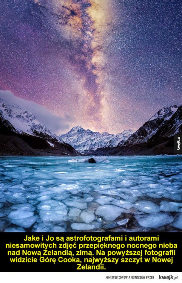 Zjawiskowe niebo nad Nową Zelandią