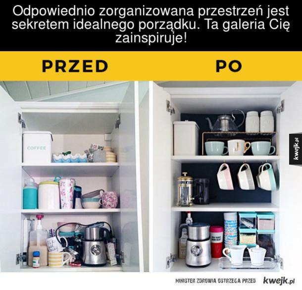 Kilka przydatnych rozwiązań, dzięki którym w twoim domu zapanuje idealny porządek - Odpowiednio zorganizowana przestrzeń jeęt sekretem idealnego porządku. Ta galeria Cię zainspiruje!  PRZED PO