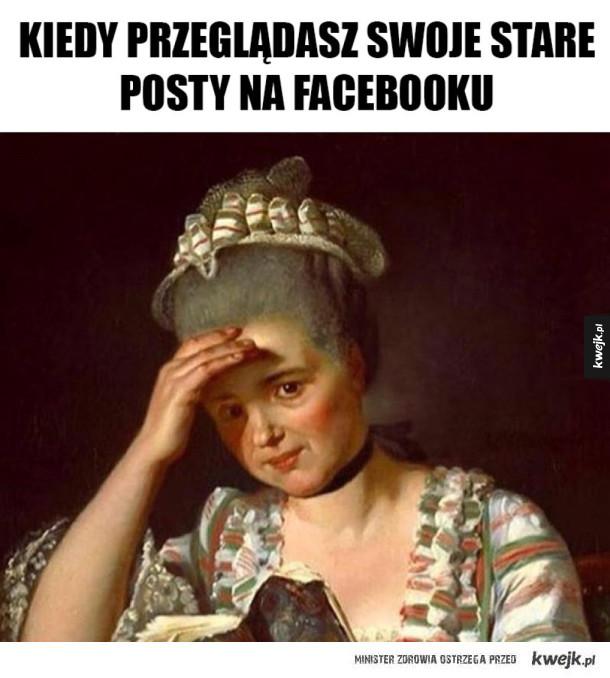 Przeglądanie starych postów na facebooku