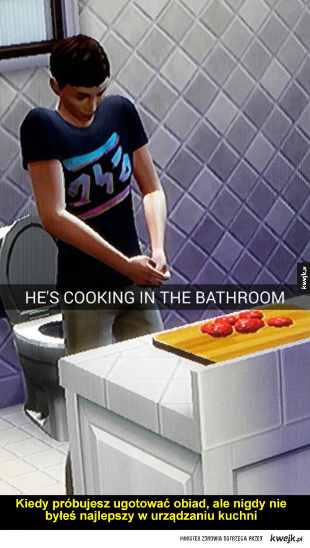 Kulinarne śmieszki z Simsów