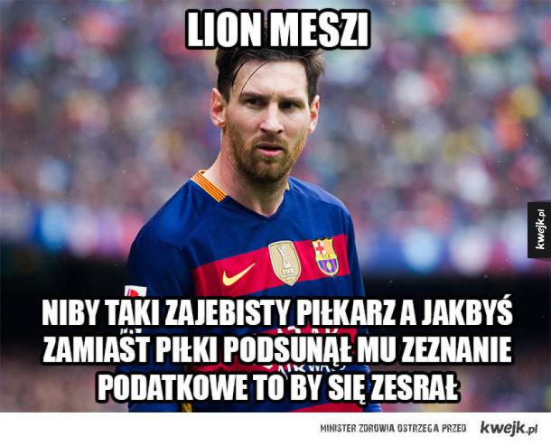 Lionel Messi niby taki piłkarz