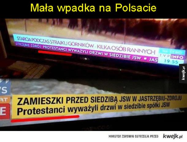 Wpadka w wiadomościach Polsatu