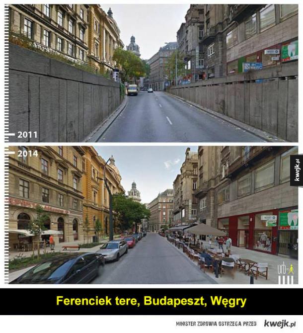 Pozytywne transformacje miast widoczne na Google Street View