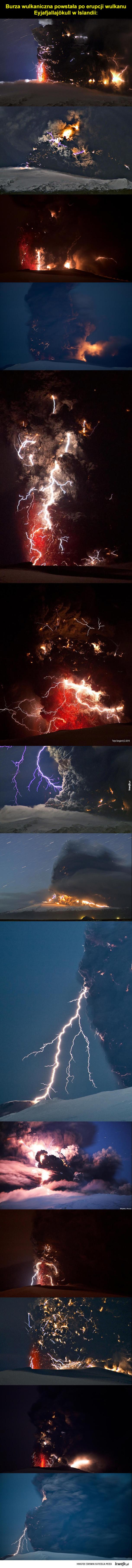 Burza nad Eyjafjallajökull