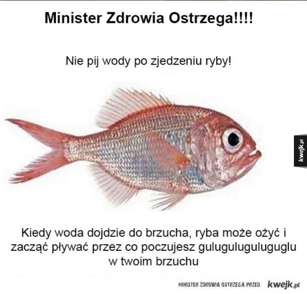 Minister Zdrowia ostrzega!
