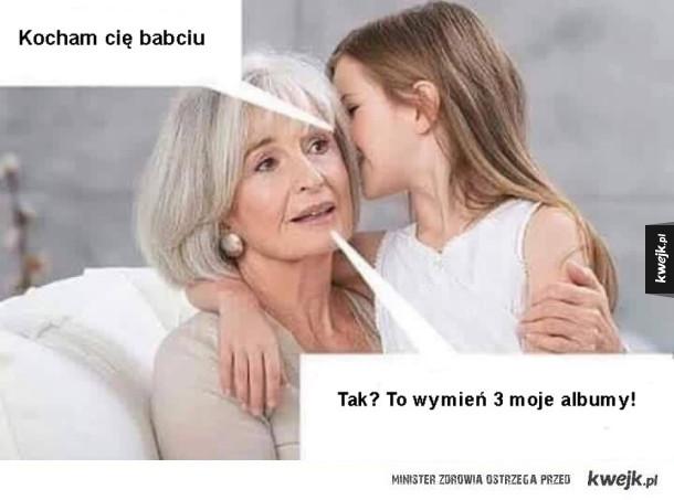 Kiedy mówisz babci, że ją kochasz