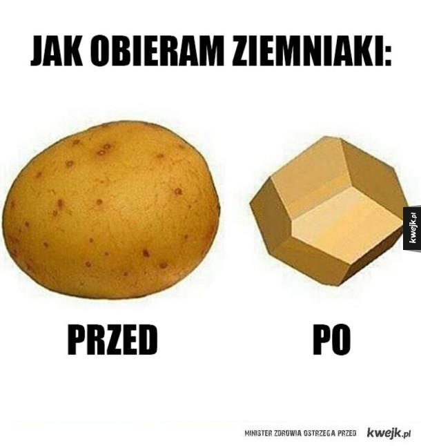 Tak wygląda moje obieranie ziemniaków