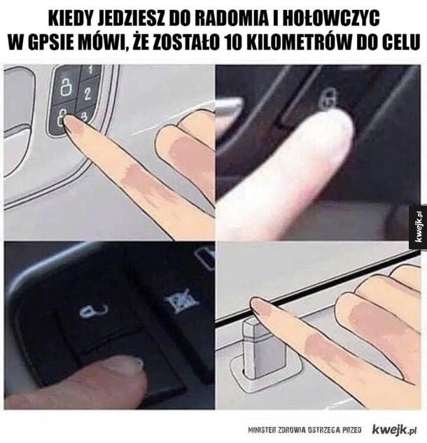 Zamek w samochodzie