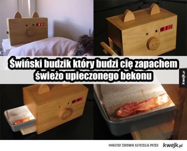 Świnkowy budzik z bekonem