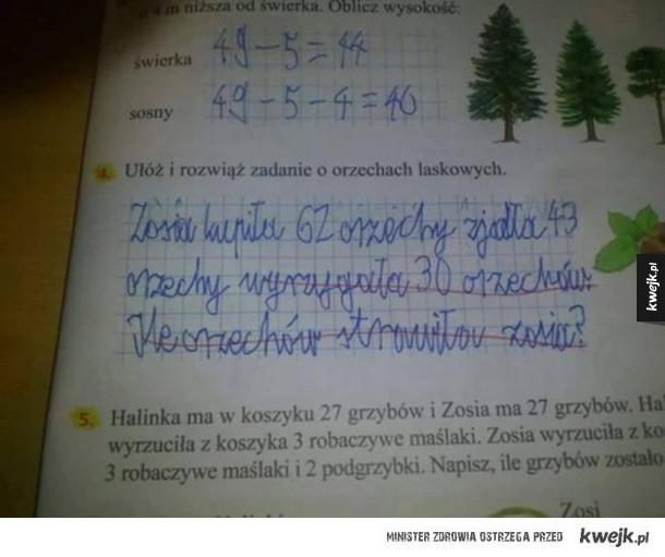 Kreatywnie napisane zadanie