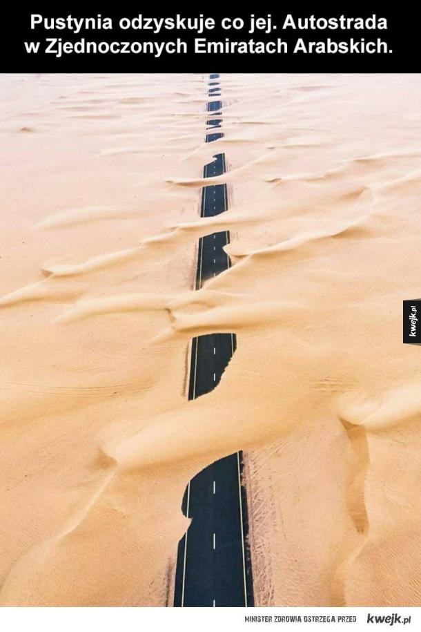 Autostrada w Zjednoczonych Emiratach Arabskich