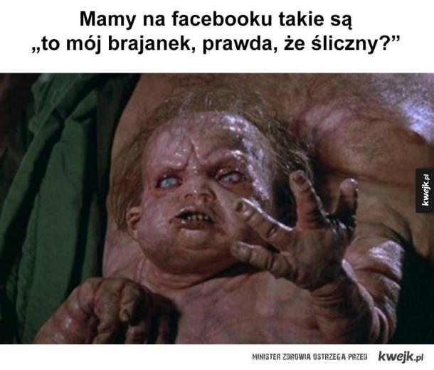 mamy na facebooku takie są