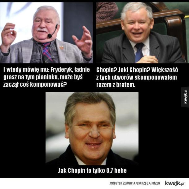 Kwaśniewski Kaczyński i Wałęsa o Fryderyku Chopinie