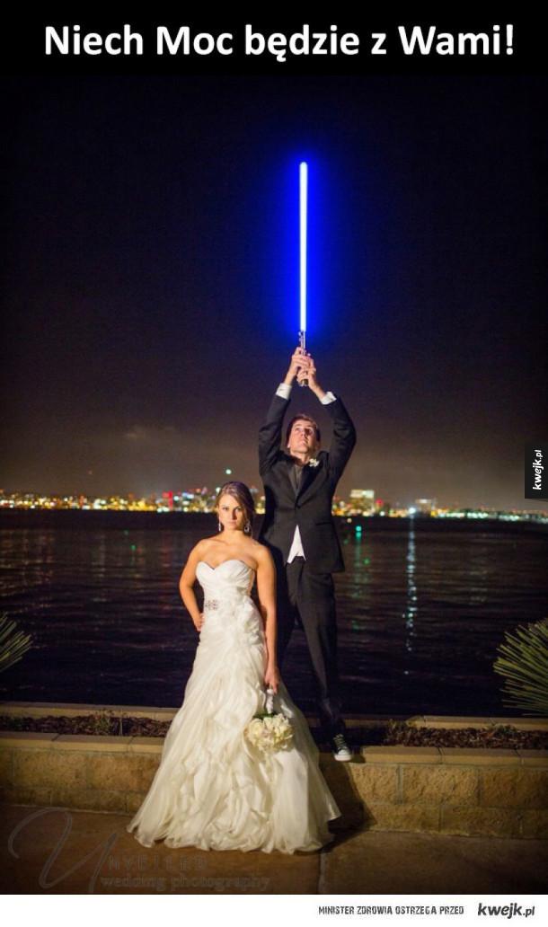 wspaniałe zdjęcie ślubne