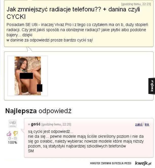 Odpowiedzi na najgłupsze problemy polskich internautów