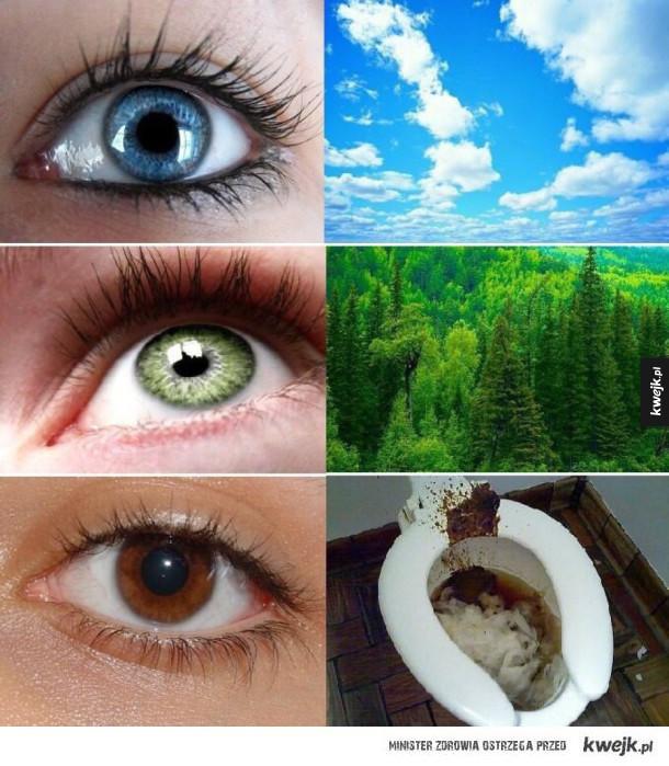 Oczy piwne oczy dziwne