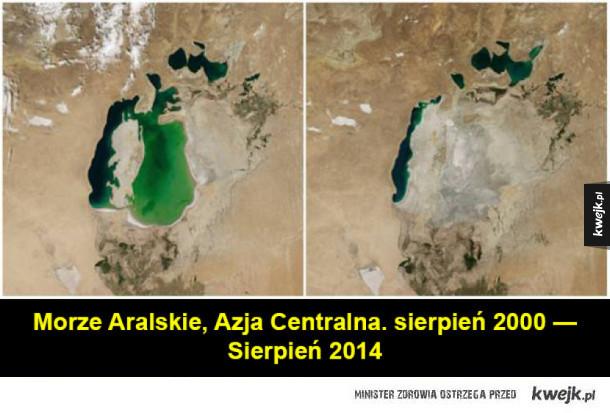 Zdjęcia NASA pokazujące zmiany, jakie zaszły na Ziemi w ciągu kilkudziesięciu lat