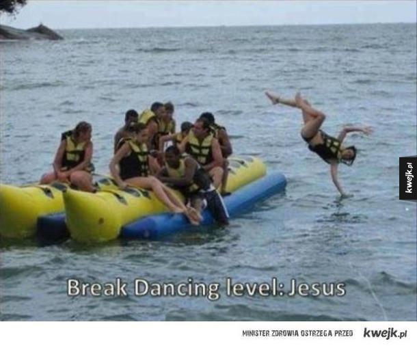 Brake dance poziom: Jezus