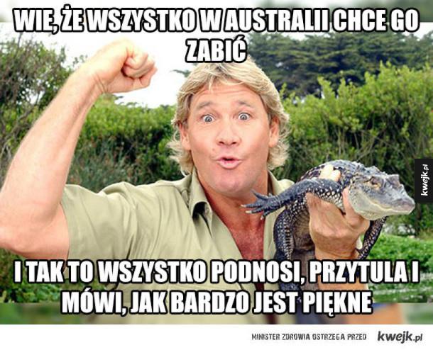 Niezapomniany Steve Irwin