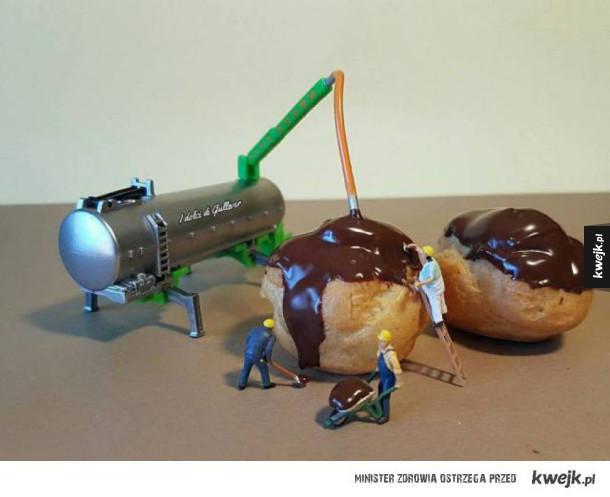 Kreatywne dioramy ze słodkości