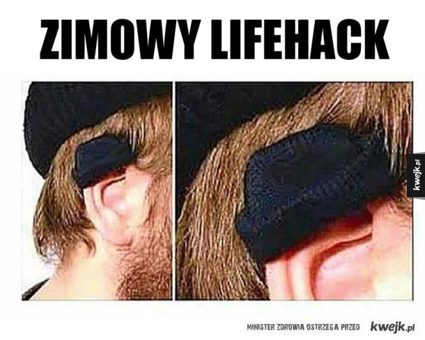 Czapka na ucho
