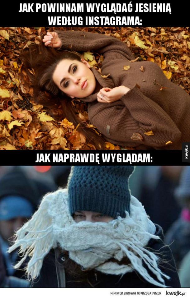 Jesień: Instagram vs. rzeczywistość