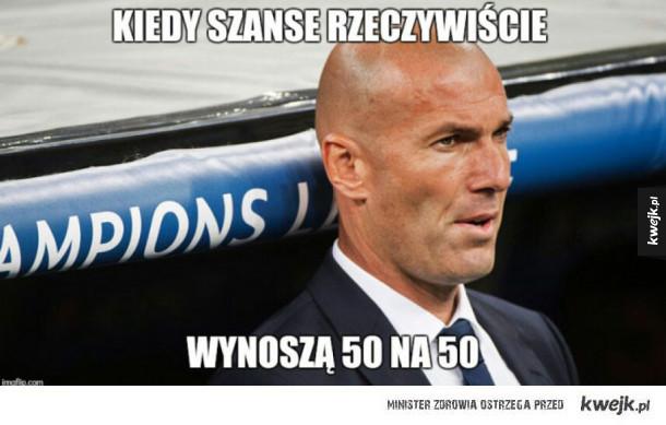 Zidane chyba się przeliczył