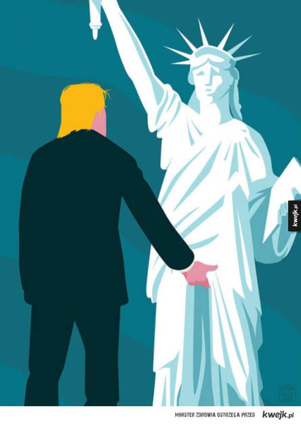 Karykatury i komiksy z amerykańskich mediów, po wyborze Trumpa