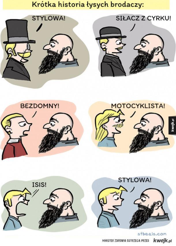 Krótka historia łysych brodaczy