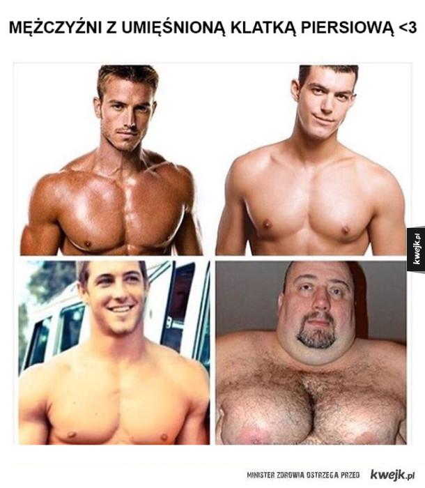Mężczyźni z ładną klatą