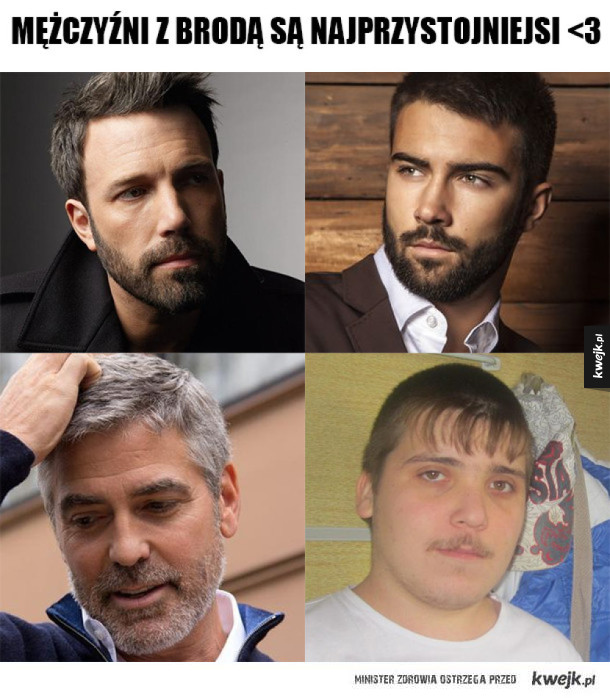Mężczyźni z brodą