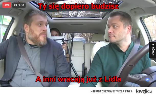 Jadą do Lidla