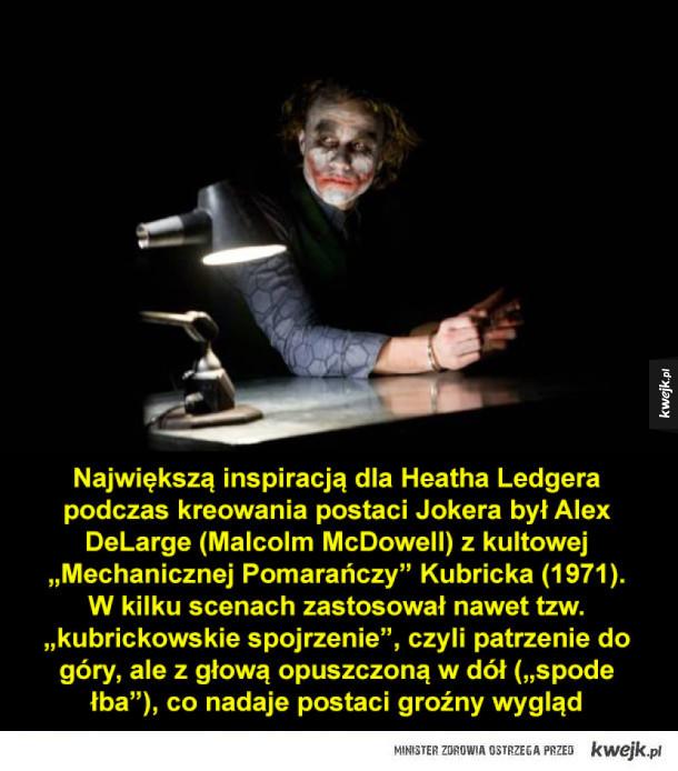 Kilka ciekawostek o Jokerze w wykonaniu Heatha Ledgera