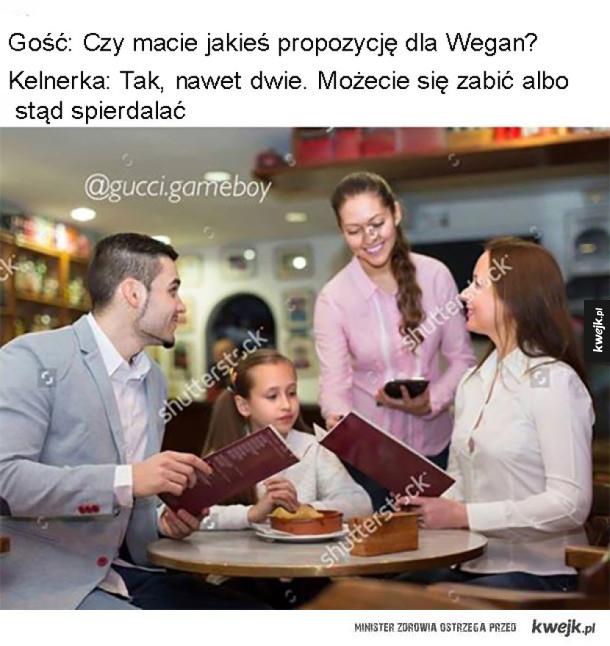 Opcje dla wegan