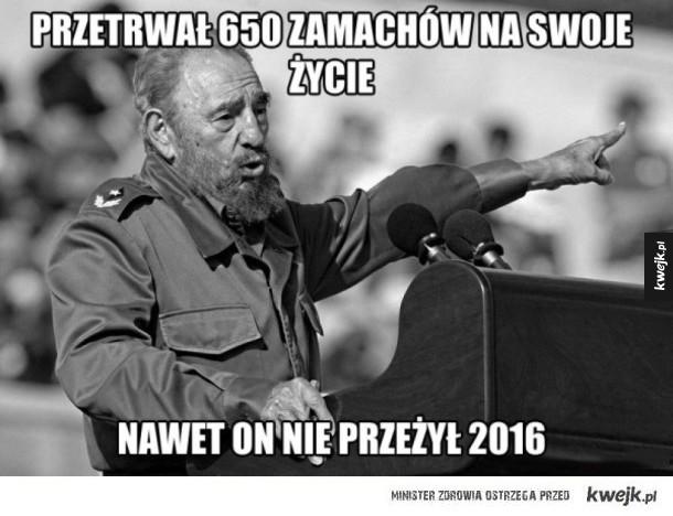 Fidel Castro przetrwał 650 zamachów na swoje życie ale nie przeżył 2016