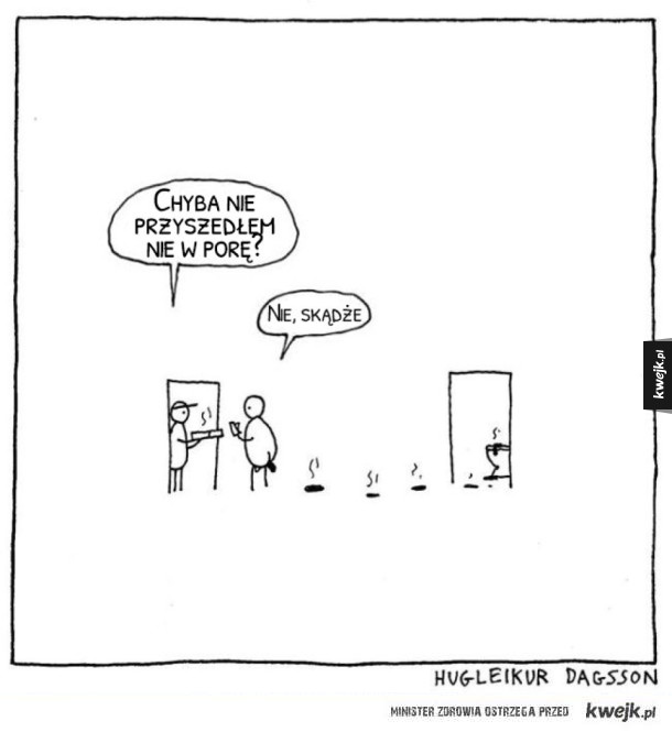Islandzki czarny humor na komiksach Hugleikura Dagssona
