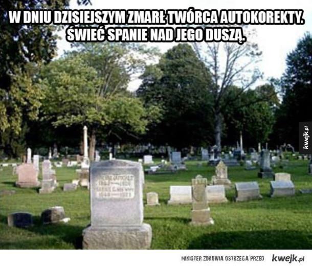 Zmarł twórca autokorekty