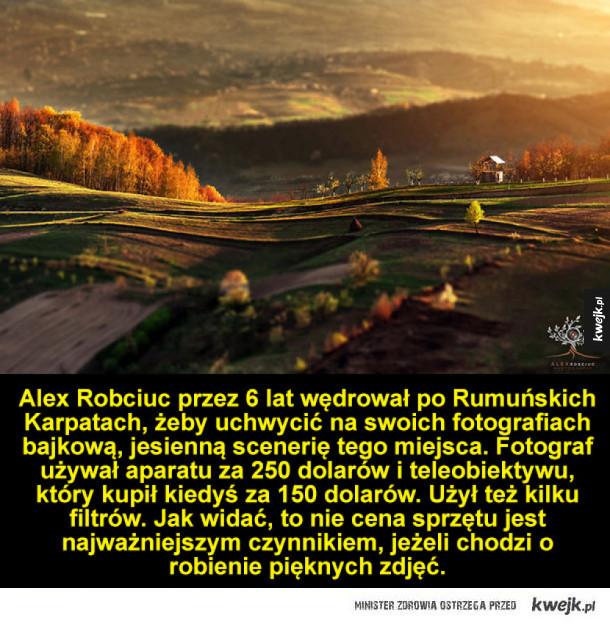Rumuńskie Karpaty w jesiennej scenerii