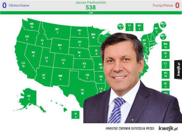 Piechociński wygrywa wybory w USA